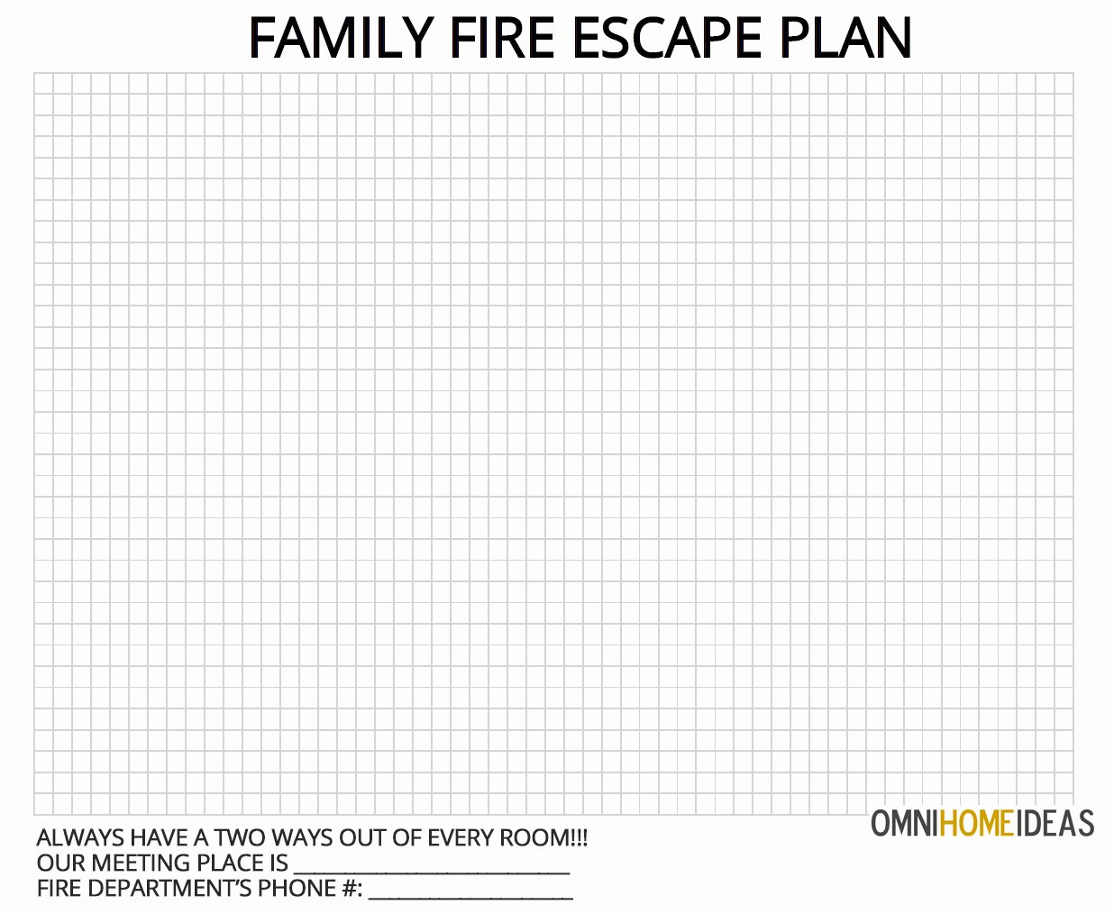 Printable Fire Escape Plan Template Inspirational How to Make A Fire Escape Plan for Home with Printable