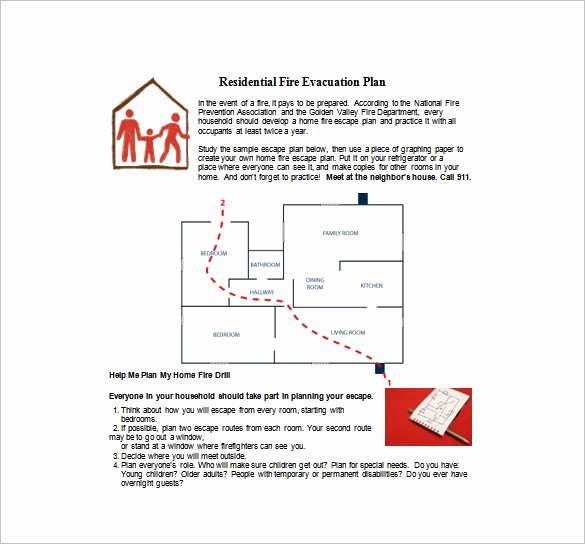 Printable Fire Escape Plan Template Lovely Evacuation Plan Template 18 Free Word Pdf Documents