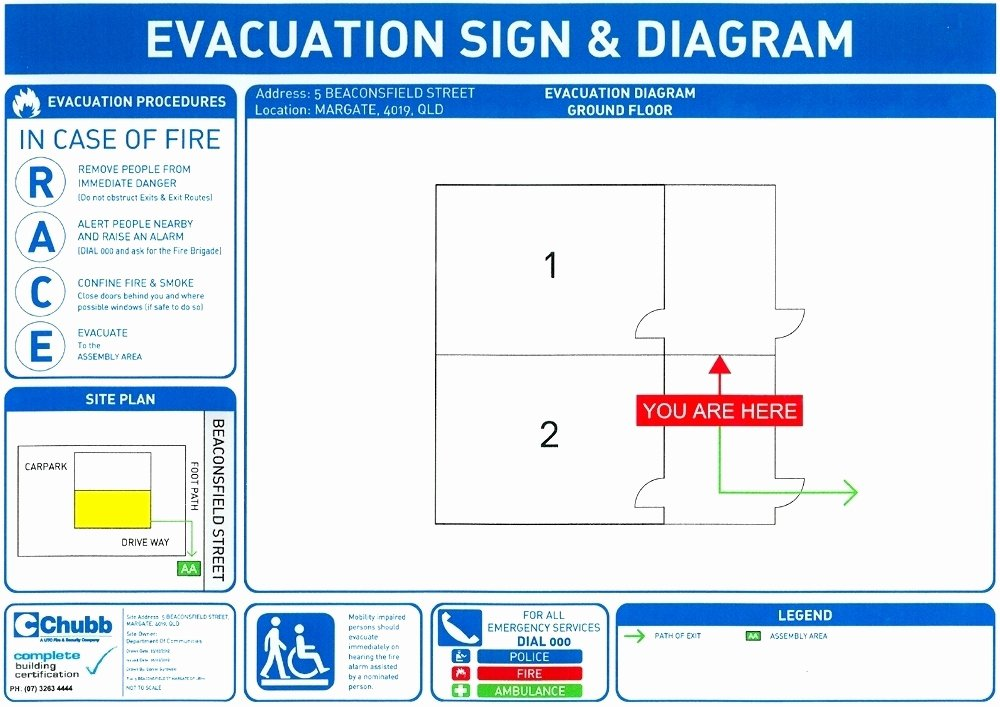 Printable Fire Escape Plan Template Lovely Free Fire Evacuation Plan Template