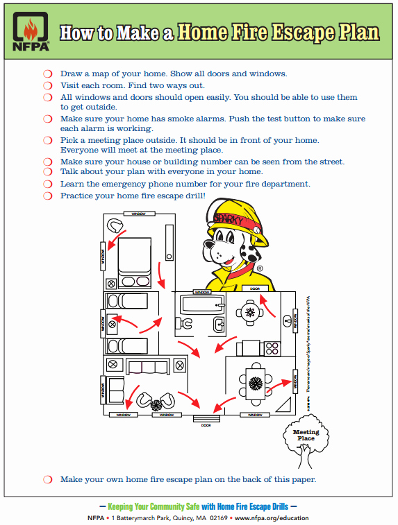 Printable Fire Escape Plan Template Unique Free Printable How to Make A Home Fire Escape Plan