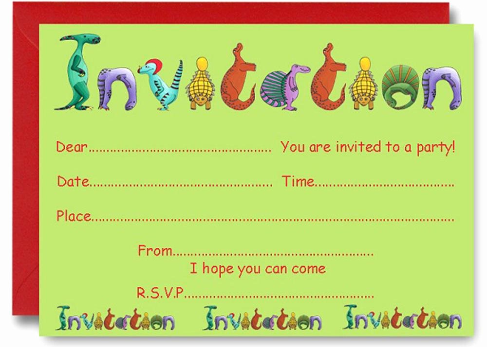 Printable Party Invitation Template Awesome 17 Dinosaur Birthday Invitations How to Sample Templates