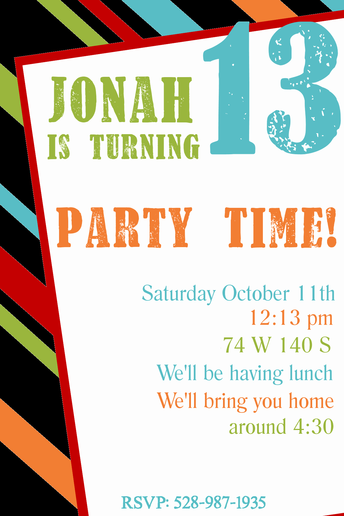 Printable Party Invitation Template Beautiful Free Printable Birthday Invitation Templates