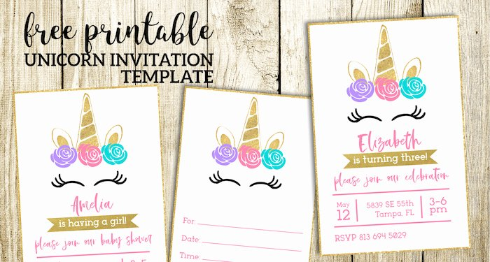 Printable Party Invitation Template Best Of Free Printable Unicorn Invitations Template Paper Trail