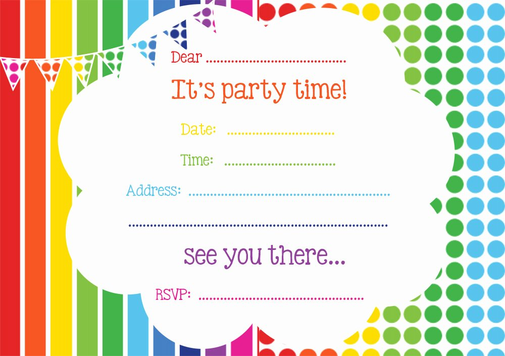 Printable Party Invitation Template Elegant Free Printable Birthday Invitations Line – Free