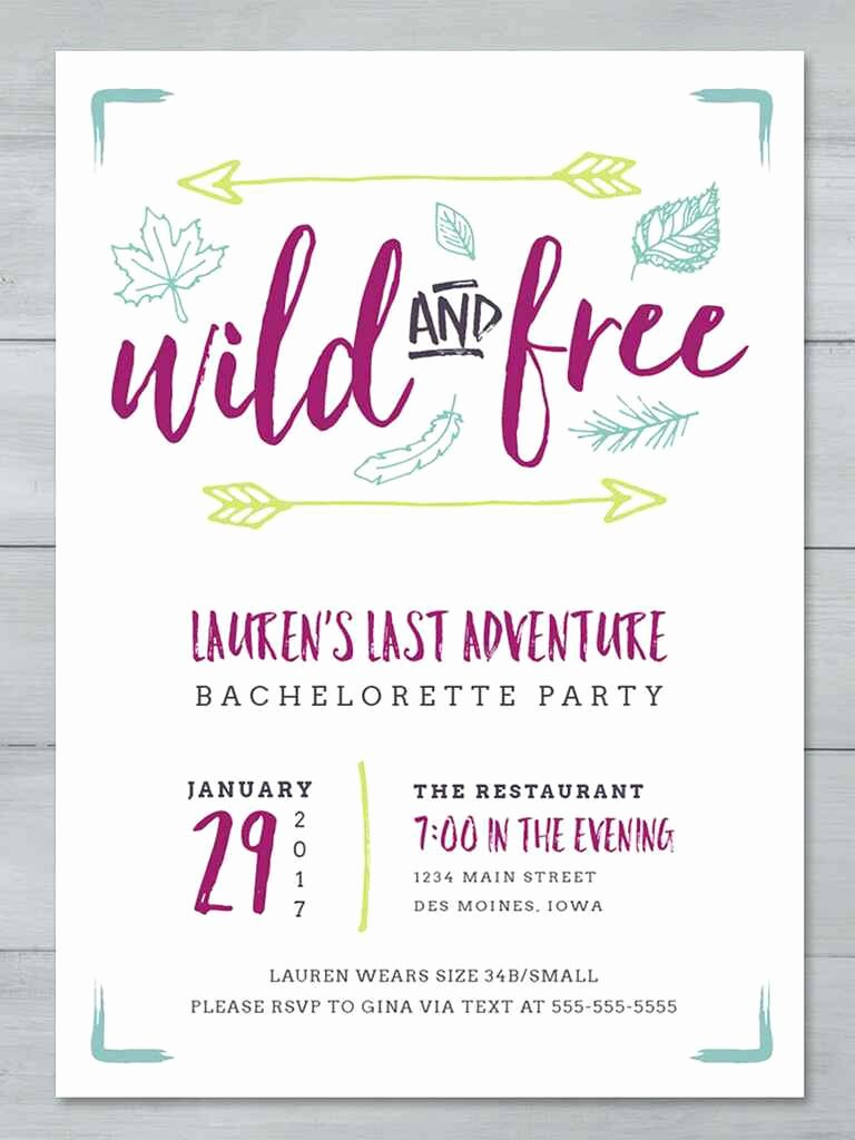 Printable Party Invitation Template Fresh 14 Printable Bachelorette Party Invitation Templates