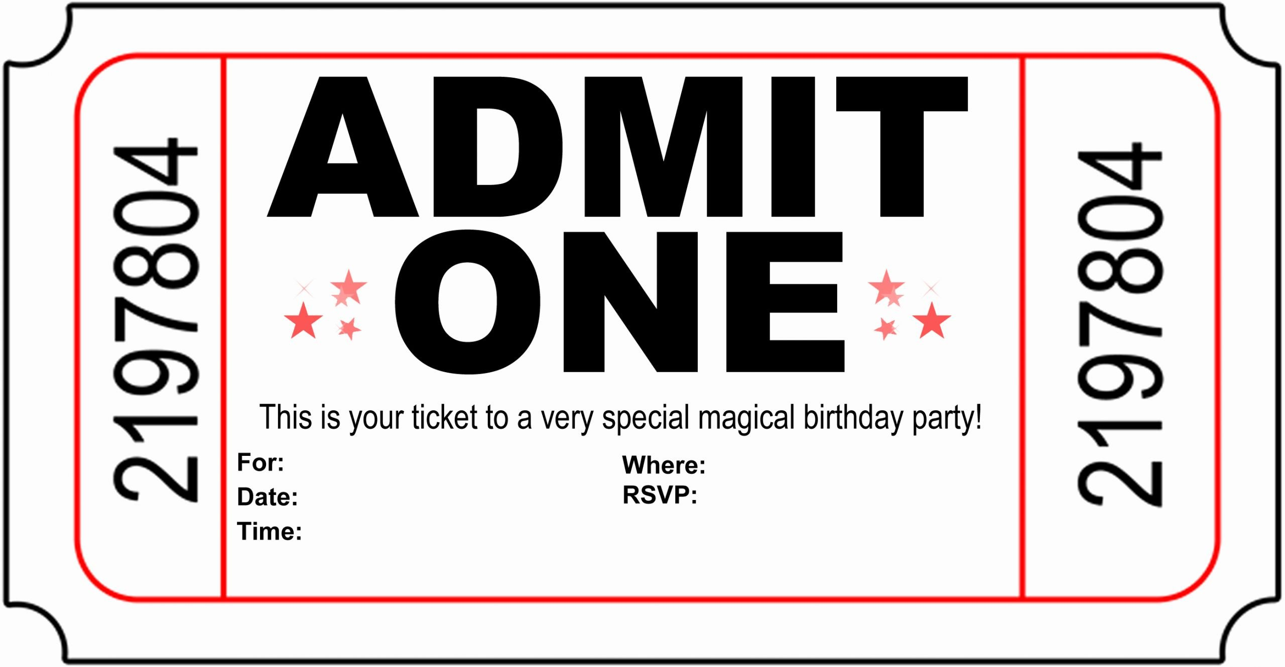 Printable Party Invitation Template Lovely Free Printable Birthday Party Invitations Kansas Magician