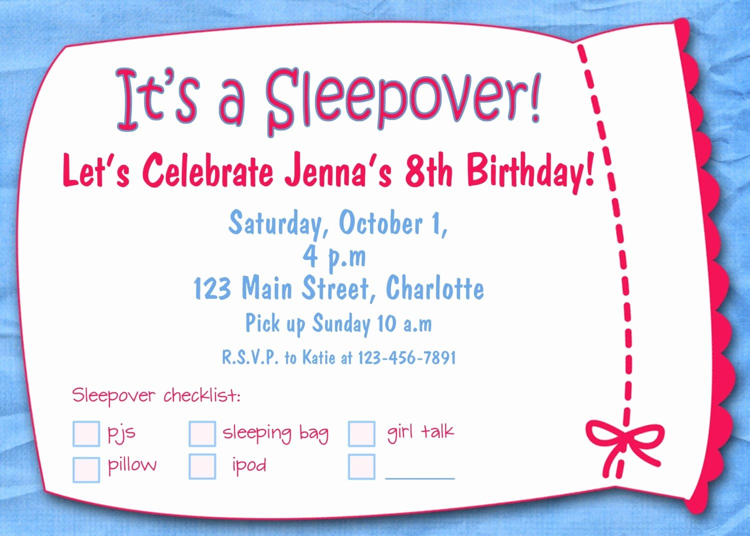 Printable Party Invitation Template New Girl Party Invitation Templates Free