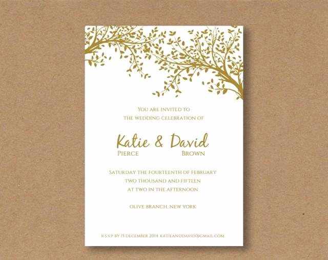 Printable Wedding Invitation Template Fresh Diy Editable and Printable Wedding Invitation Template