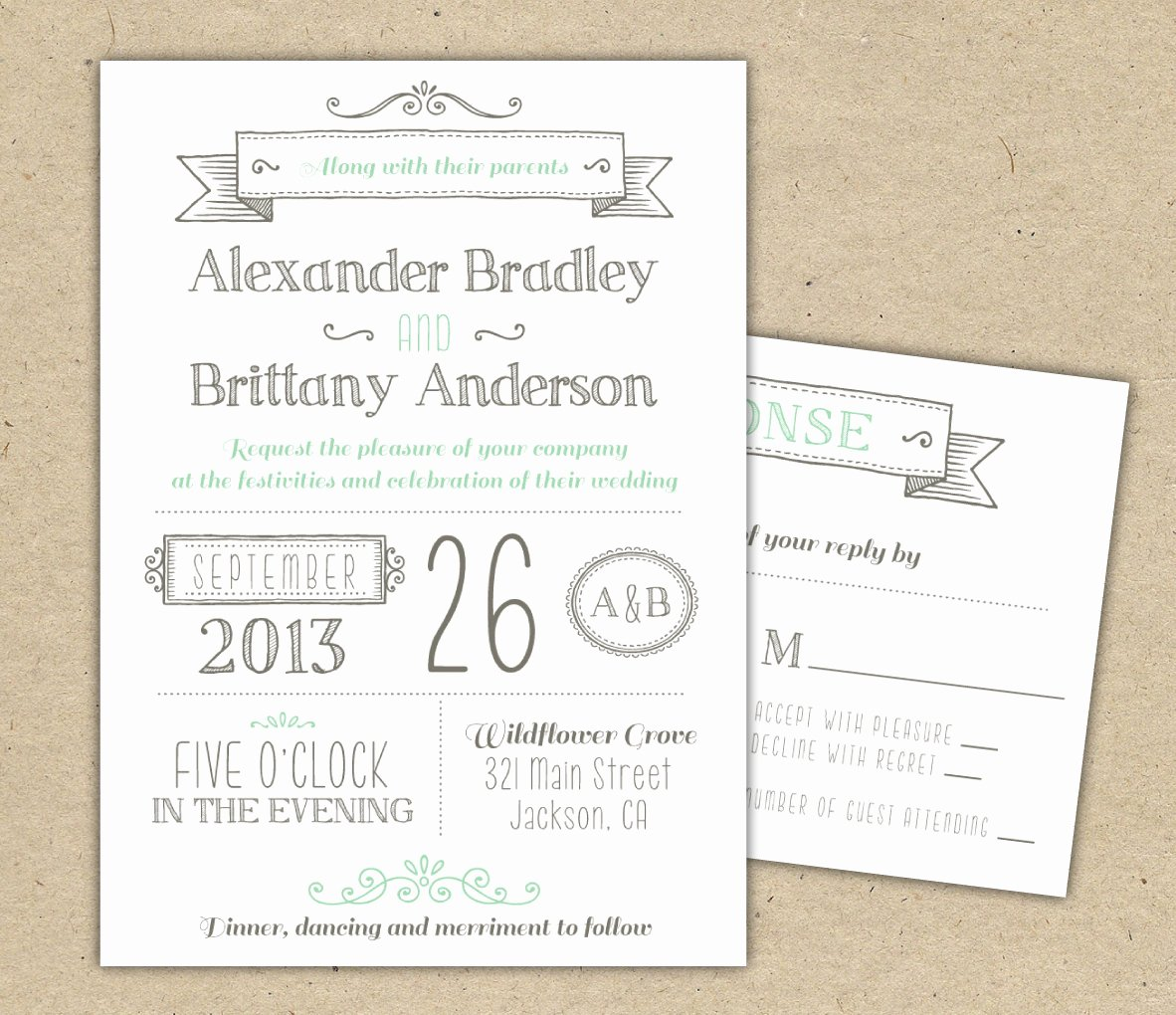 Printable Wedding Invitation Template Fresh Wedding Invitation 1041 Sample Modern Invitation Template