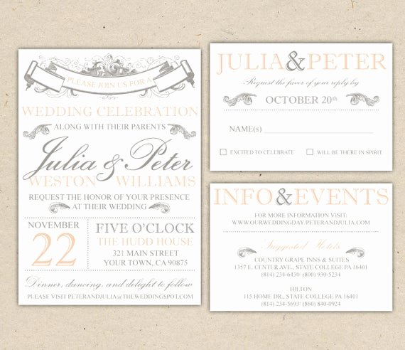 Printable Wedding Invitation Template Unique Rustic Wedding Invitation Template Vintage Modern Printable