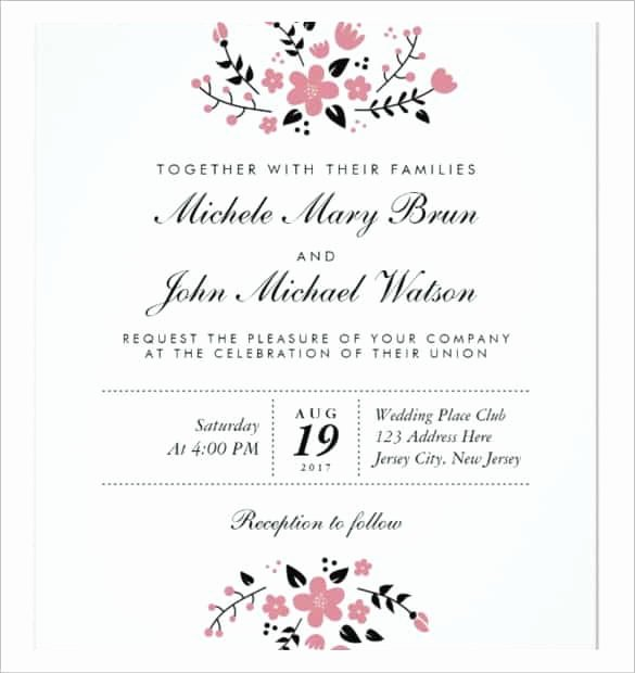 Printable Wedding Invitations Template Beautiful 85 Wedding Invitation Templates Psd Ai