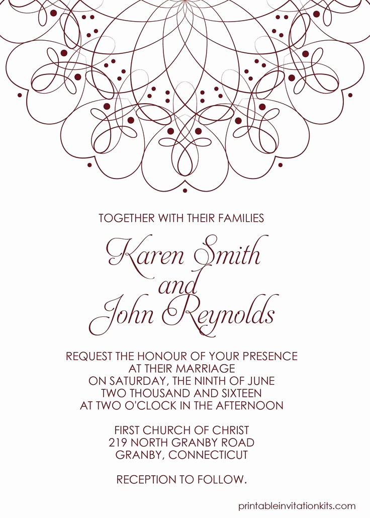 Printable Wedding Invitations Template Elegant 210 Best Wedding Invitation Templates Free Images On