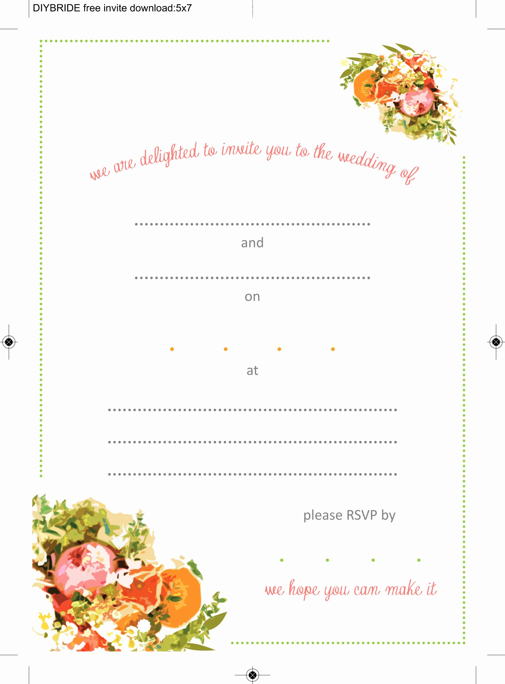 Printable Wedding Invitations Template Elegant Wedding Invitation Templates that are Cute and Easy to