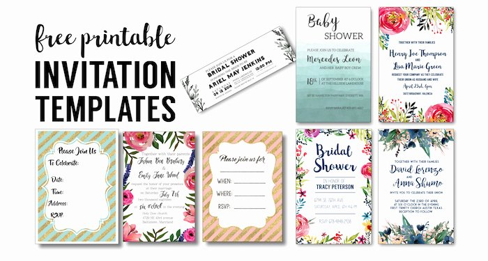 Printable Wedding Invitations Template Fresh Party Invitation Templates Free Printables Paper Trail