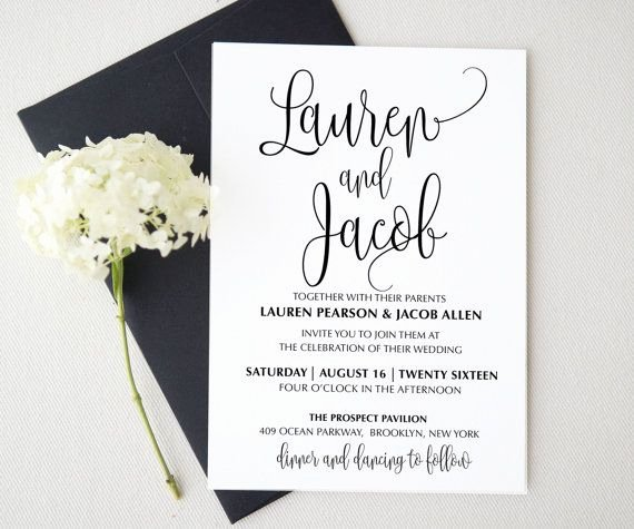 Printable Wedding Invitations Template Fresh Wedding Invitation Template Printable Wedding Invitation