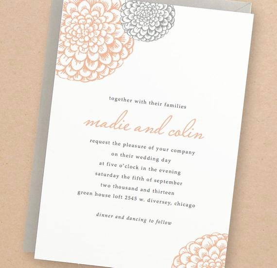 Printable Wedding Invitations Template New Printable Wedding Invitation Template Instant Download
