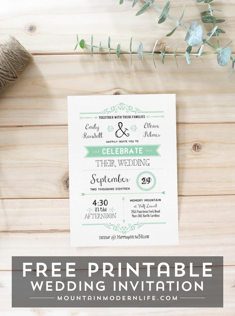 Printable Wedding Invitations Template Unique Free Wedding Invitation Template