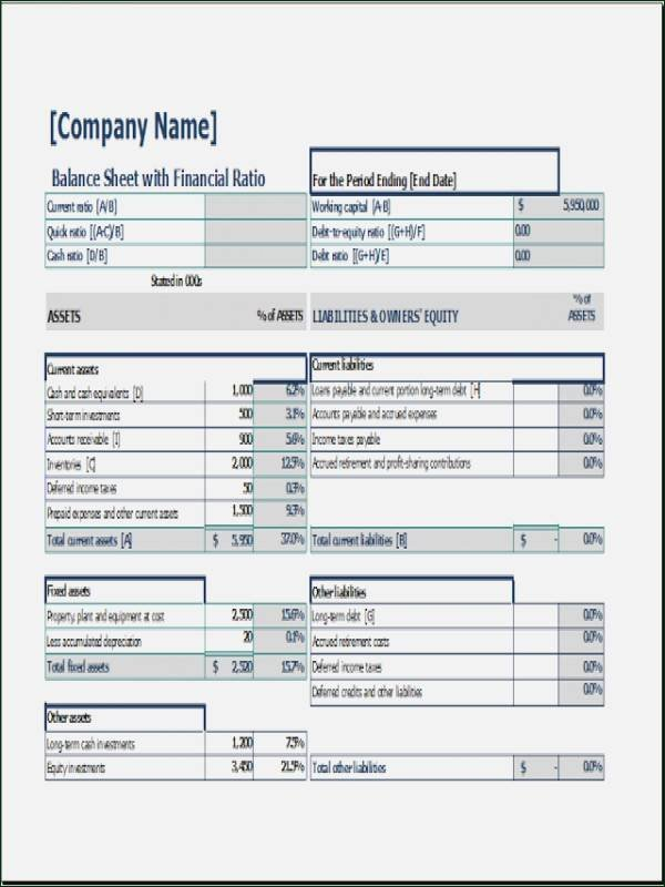 Pro forma Balance Sheet Template Elegant 10 Pro forma Balance Sheet Template 1