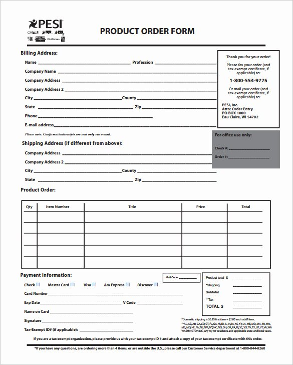 Product order form Template Free Lovely order form Template – 27 Free Word Excel Pdf Documents