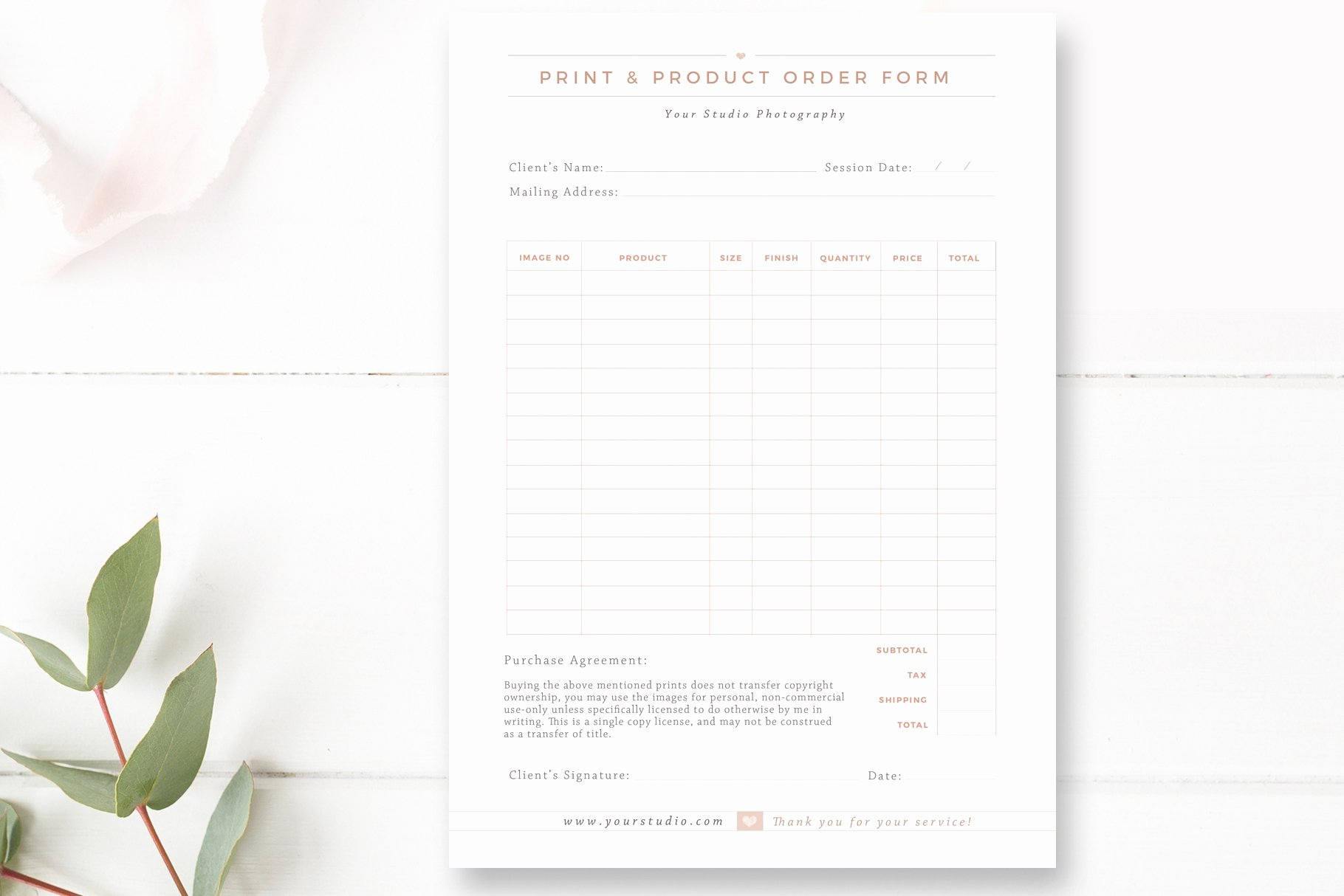 Product order form Template Free Lovely Print & Product order form Flyer Templates Creative Market