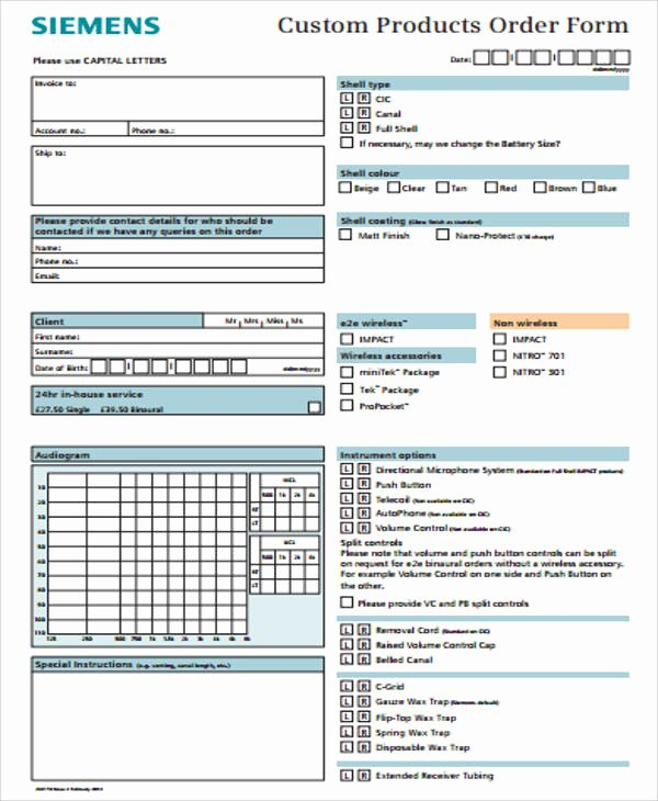 Product order form Template Free New Sample Custom order form 12 Examples In Word Pdf