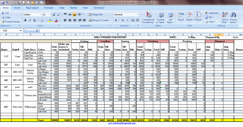 Production Planning Excel Template Fresh Daily Production Report Excel Template Free Download