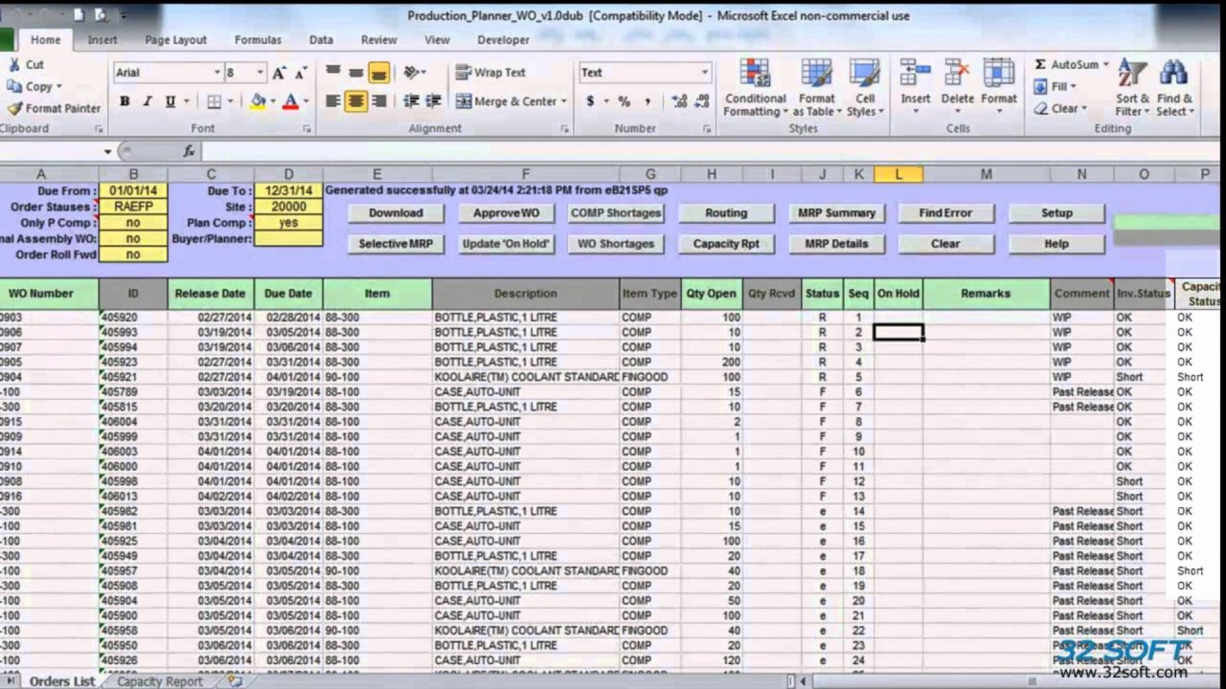 Production Planning Excel Template New Work order Tracking Spreadsheet Spreadsheet Downloa Work