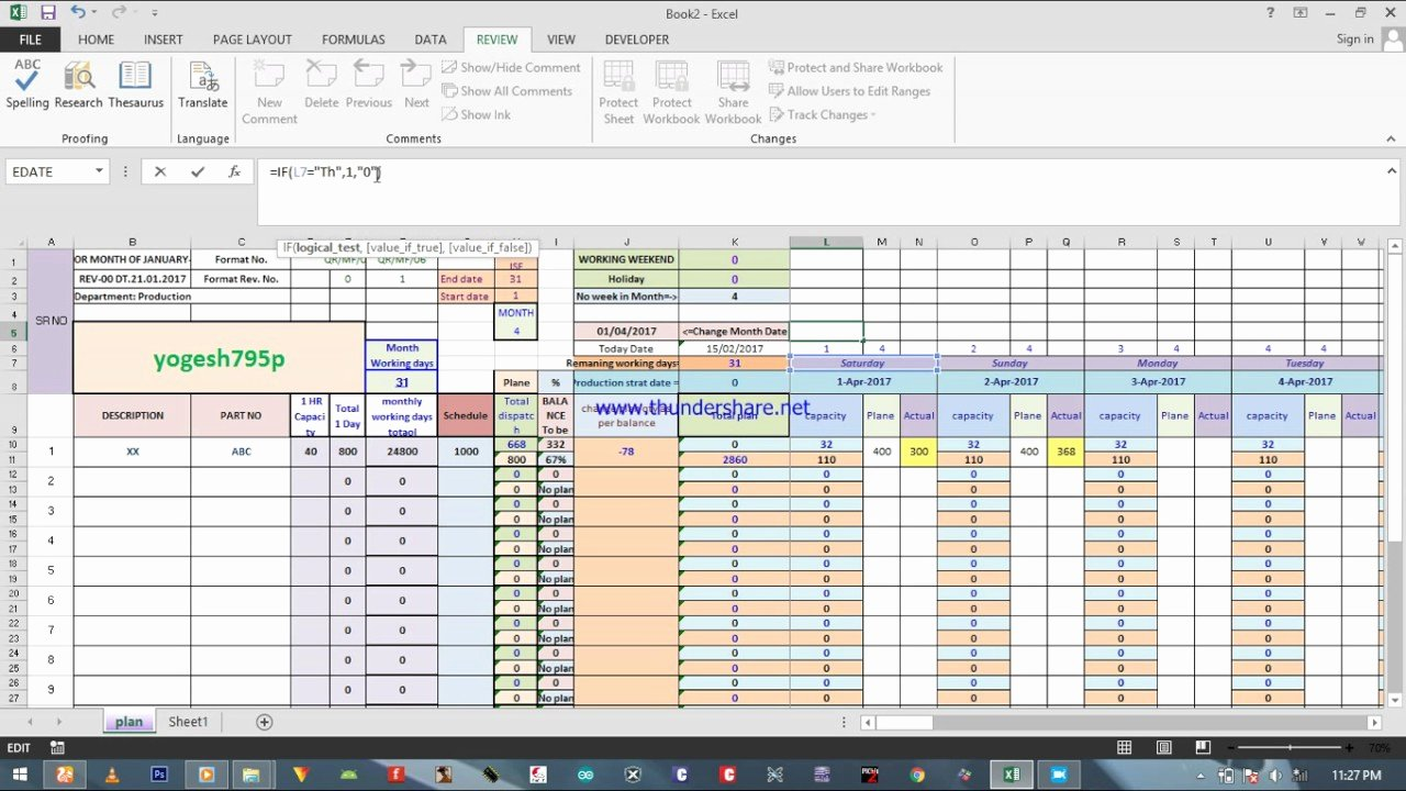 Production Schedule Template Excel Elegant How Create Capacitive Production Planning Excel Sheet