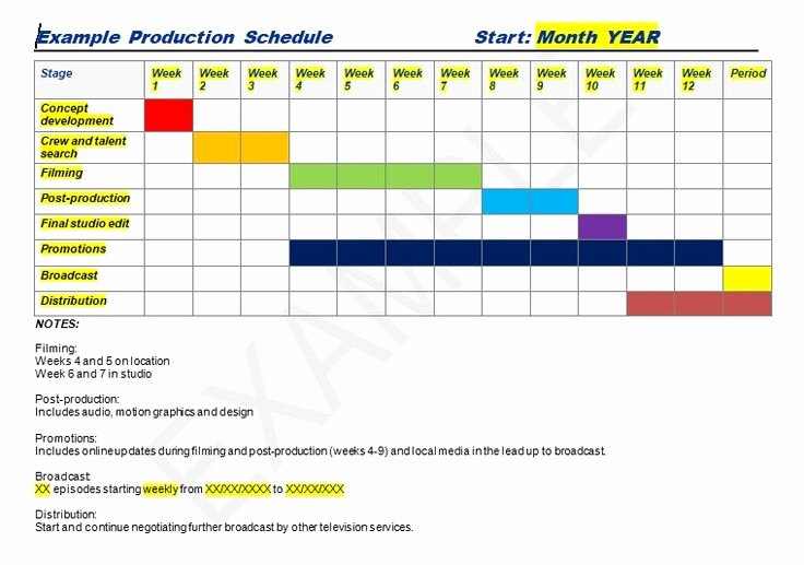 Production Schedule Template Excel Fresh 24 Best Management Templates Images On Pinterest