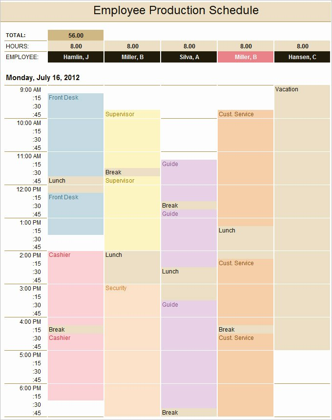 Production Schedule Template Excel New 15 Production Schedule Templates Pdf Doc