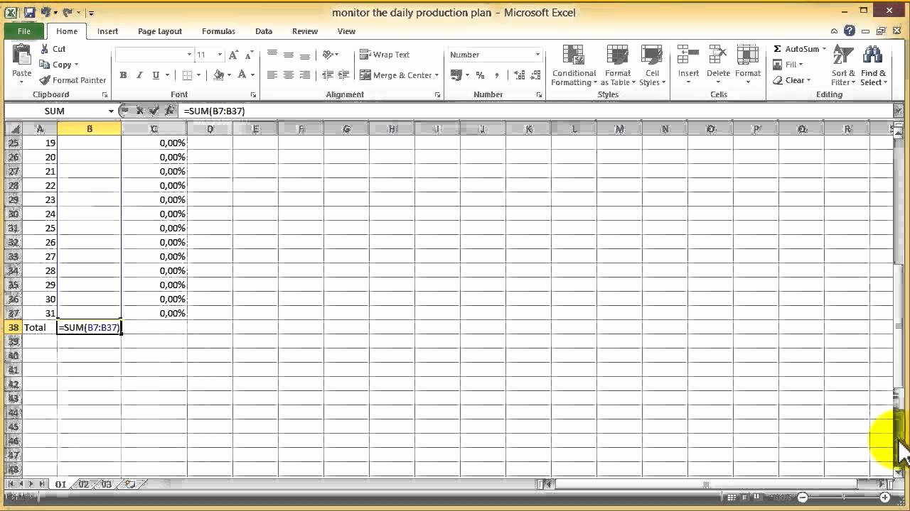 Production Schedule Template Excel Unique How to Monitor the Production Plan with Excel 2010