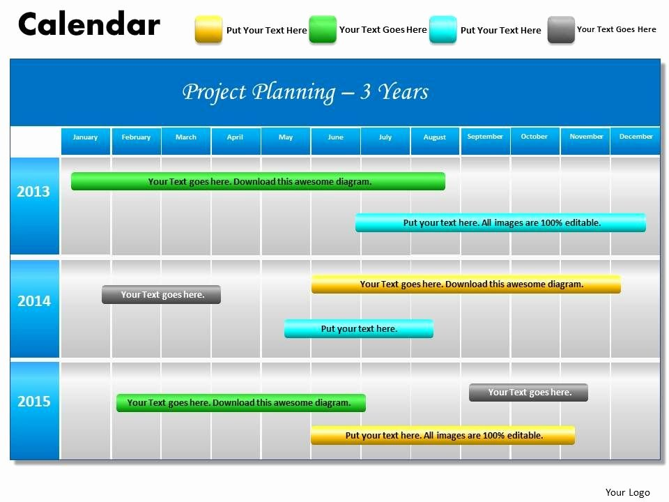 Project Plan Powerpoint Template Elegant 3 Years Project Planning Gantt Chart 2013 Calendar