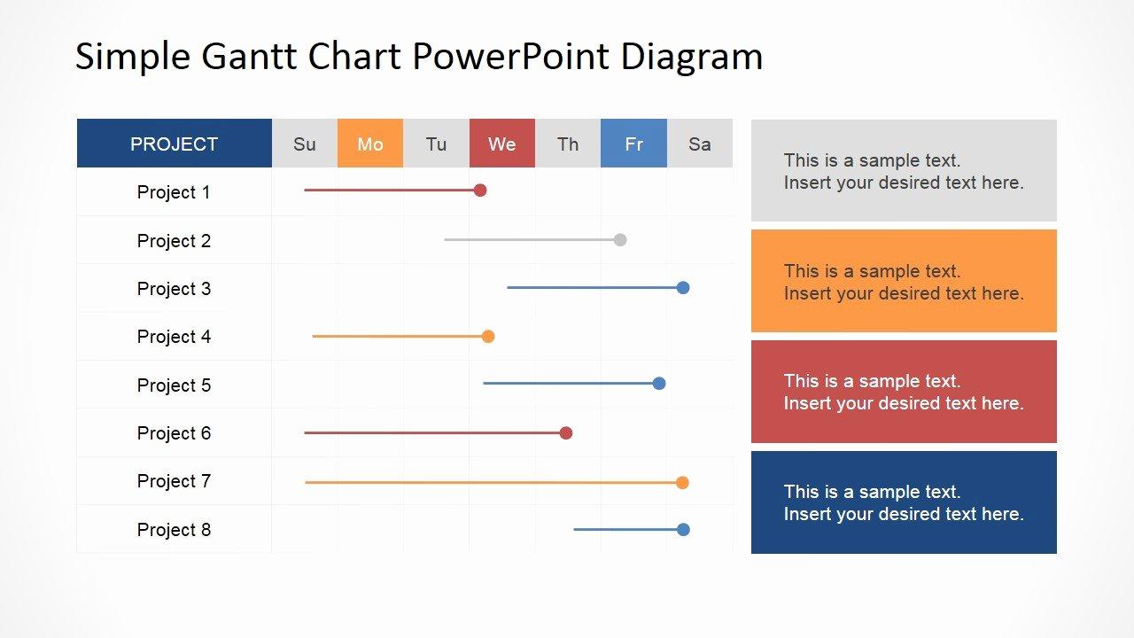 Project Plan Powerpoint Template Fresh Simple Gantt Chart Powerpoint Diagram Slidemodel
