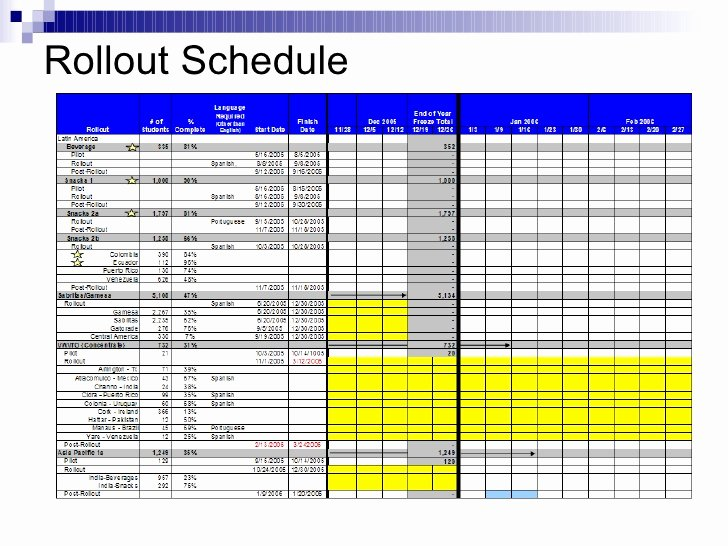 Project Rollout Plan Template Best Of Project Rollout Artifacts