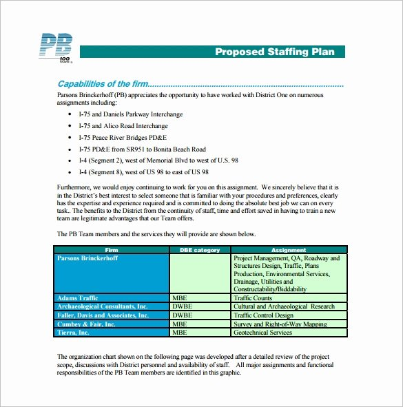 Project Staffing Plan Template Excel Awesome 9 Staffing Plan Templates Pdf Doc Xlsx