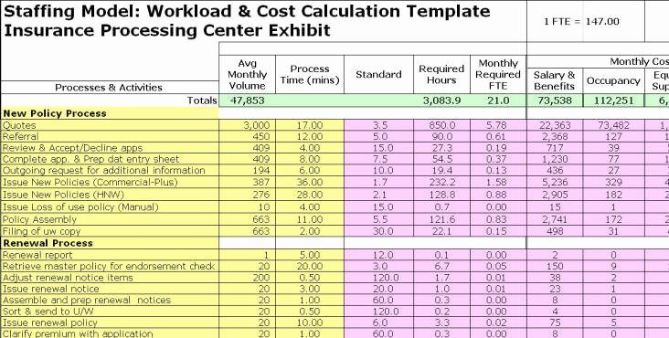 Project Staffing Plan Template Excel Fresh Fte Exhibits
