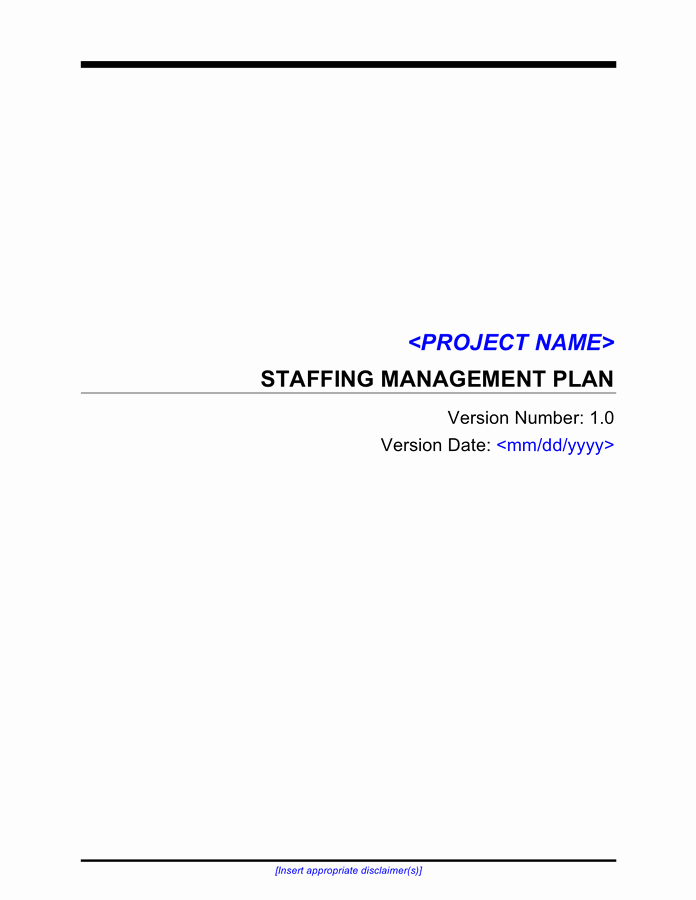 Project Staffing Plan Template Excel Unique Project Management Template Free Documents for