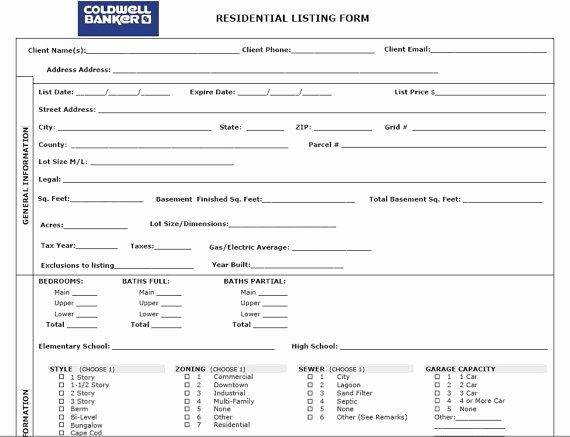 Property Listing form Template Awesome the Real Estate Listing Set Open Houses