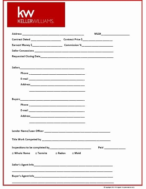 Property Listing form Template Best Of Prospecting for Real Estate Kit
