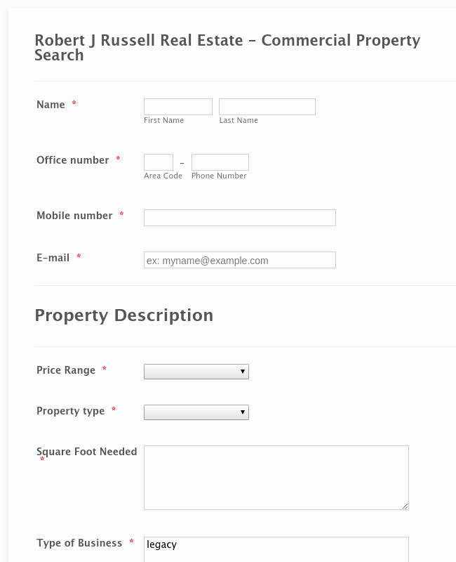 Property Listing form Template Unique Real Estate forms form Templates