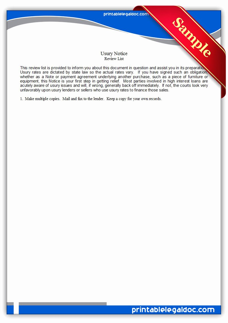 Proxy Voting form Template New Free Printable Usury Notice form Generic