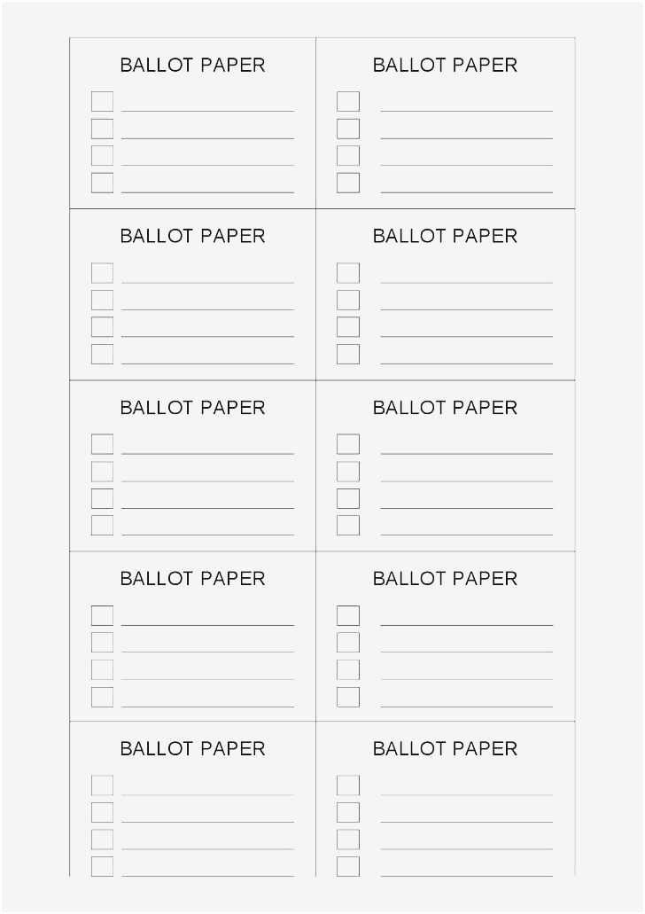 Proxy Voting form Template Unique Free Collection 57 Election Ballot Template Examples