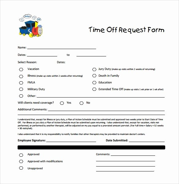 Pto Request form Template Awesome Sample Time F Request form 23 Download Free Documents