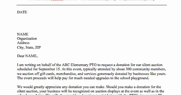 Pto Request form Template Elegant Use This Template to Send Out Requests for Donations to