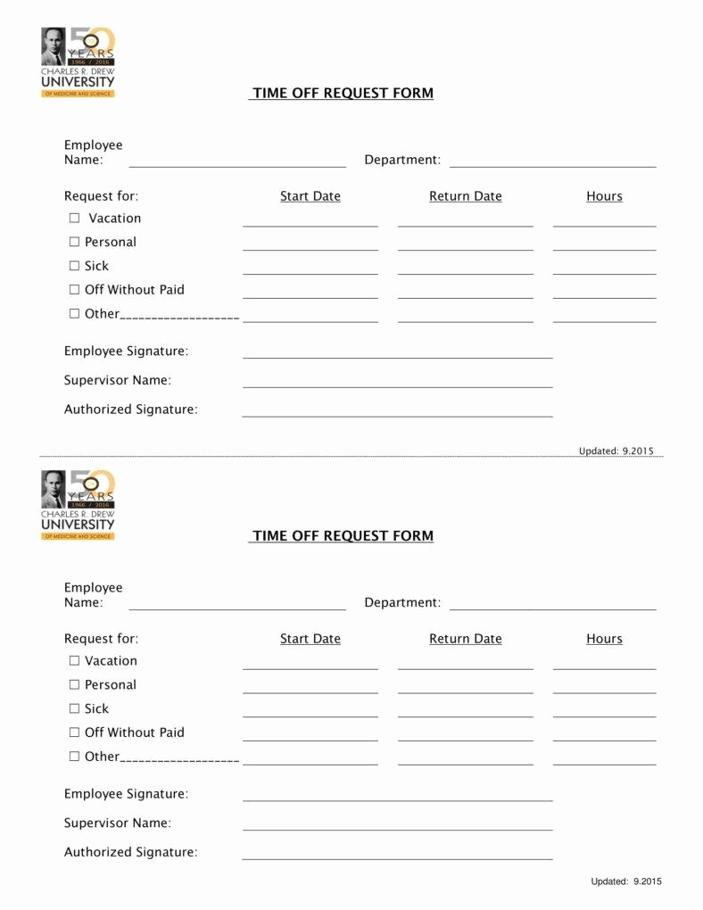 Pto Request form Template Lovely 9 Pto Request form Templates Pdf