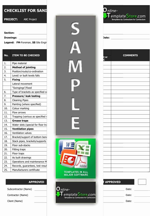 Quality Control form Template Awesome Quality Control forms