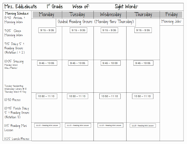 Readers Workshop Lesson Plan Template Luxury Spotted In First Grade Monday Made It Lesson Plan Template
