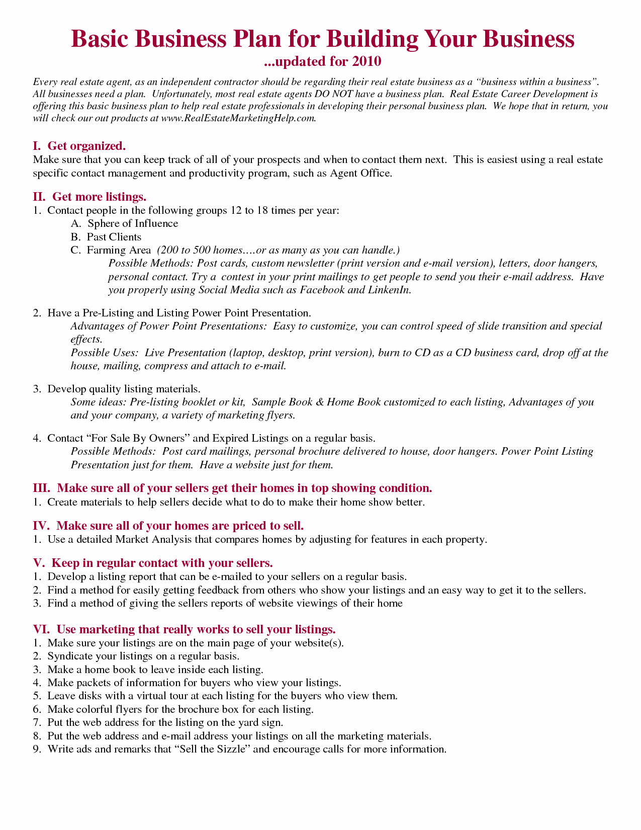 Realtor Business Plan Template Awesome Realtors Business Plan Sample Google Search