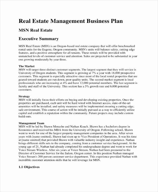 Realtor Business Plan Template Elegant 11 Mercial Real Estate Marketing Plan Templates Pdf