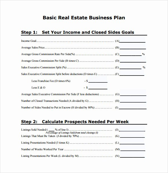 Realtor Business Plan Template Lovely Free 13 Real Estate Business Plan Templates In Google